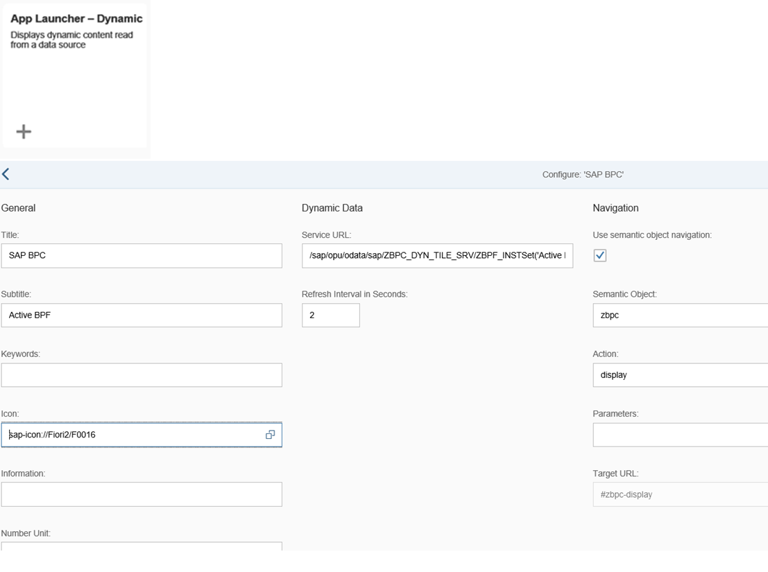 Creating Dynamic App Launcher Fiori Tile for SAP BPC (Blog # 5